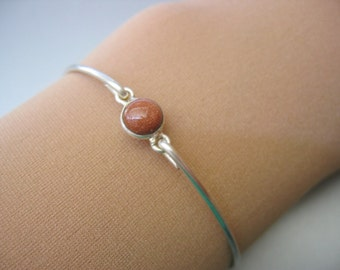 GOLDSTONE TINY ROUND bangle bracelet