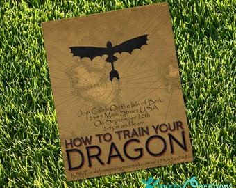 How To Train Your Dragon Party Invitation - Instantly Downloadable and Editable File Personalize with Adobe Reader