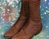Brown GRANNY BOOTS Women's Size 7 .5 M
