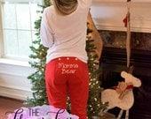 Holly Jolly Christmas Pajama Pants, Red Pajama Pants, Christmas Pajamas, Personalized Christmas Pajama Pants, Polar Express PJ's, Adult PJ