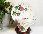 Tuscan Four Leaf Clover Cup & Saucer, Good Luck, Fine Bone China Tea Cup