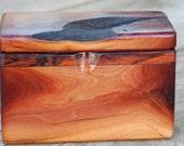 Live Edge Manzanita Hand Tooled Smooth Wood Box