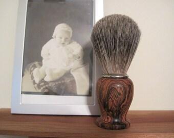 Hand Turned Badger Hair Shaving Brush made of Bocote Wood
