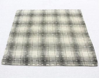 Japanese Zoukin Cloth. Antique Handmade Floor Cloth. Layered Cotton Sashiko Textile. Place Mat. (Ref: 1273)
