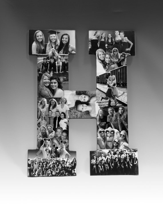 custom photo letter collage letter collage girlfriend photo gift friend collage high