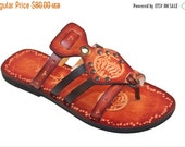 LAST SALE 20% OFF Lovely Sun And Moon Flat Slip On Handpainted Sandals - Imagination