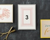 Table Numbers for Weddings, Customizable Colors, Fonts, Formats & Styles Including Rustic, Modern and Glitter