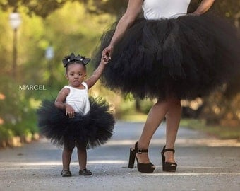 """Solid Black Chic Extreme Adult tutu for  waist up to 34 1/2"""" great for Mommy and me, Maternity tutus, Bridal and Bachelorette parties"""