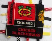 Chicago Blackhawks Ribbon Blanket / Lovey