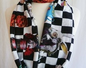 Mad Hatter Scarf, Mad Hatters Tea party, Infinity Scarf By Rooby Lane