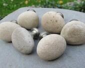 Beach Stone Cabinet Knobs BEACH SAND Natural Beach Stone Cabinet Knobs