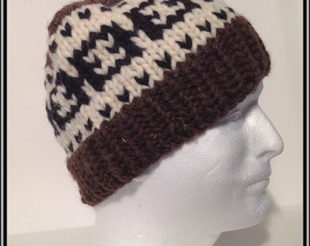"""Cowichan Style Toque """"Chainlink"""""""