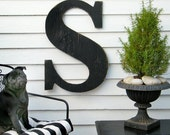 "24"" Extra Large Letter Wall Decor Wooden Letter Big Letters"