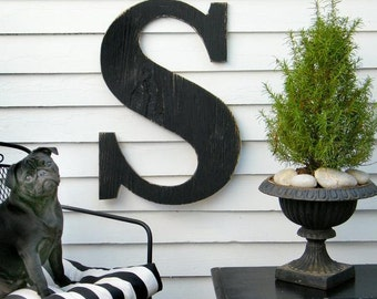 "24"" Extra Large Letter Wall Decor Wooden Letter Big Letters Dorm Decor Wedding Must Have"