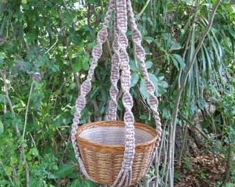 Pottery 34 1/2 Inch No Beads Macrame Plant Hanger