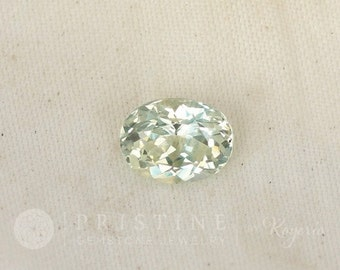 Mint Green Sapphire Oval Shape Loose Faceted Gemstone for Engagement Ring September Birthstone