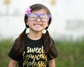 sweet heavenly molasses - girls graphic gold foil tee