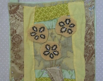 Handsewn Pot Of Flowers Handmade Textiles Gifts Home Decor Fabric Pictures  Flowers Textile Wallhangings