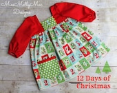 The 12 Days of Christmas Tilly Dress Size 2/3