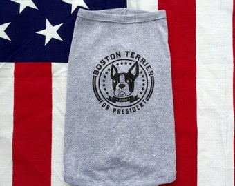 Presidential  Pup Shirt / Available in S-M-L-XL-2XL