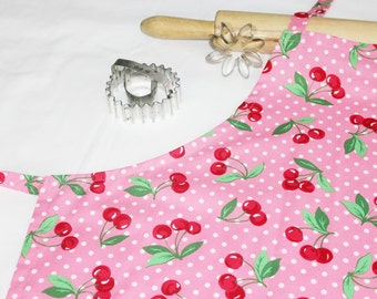 Cherries and Dots Adult Apron