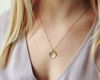 Personalized Grandmother Jewelry, Grandma Gift, Initial Jewelry, Sister Jewelry, Girlfriend Gift, Gold Circle Jewelry, Mothers Jewelry