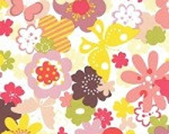 SALE Just Wing It by Momo for Moda Fabrics Flower Garden 32441 11 One Yard