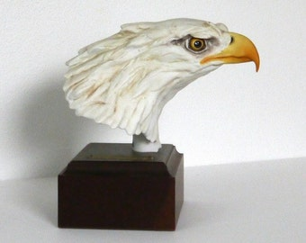 The Presidential Eagle Kaiser Porcelain Bust, Mounted on Wood