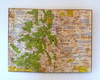 COLORADO State Map Wall Decor | Perfect Gift for Any Occasion | Vintage National Geographic Map | Gallery Wall | Mini Size