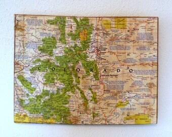 COLORADO State Mini Map Wall Art