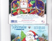 Two Dimensions Whimsies Counted Cross Stitch Kits Santas Sleigh and Santas List