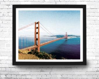 Golden Gate Bridge Art Print, San Francisco Decor, Wall Art, Golden Gate Bridge, San Francisco Art, Golden Gate Bridge Poster, California