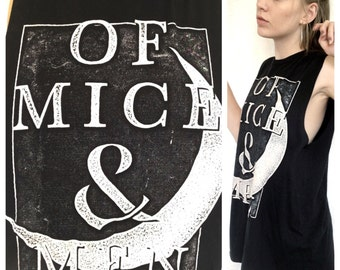 Of mice and men black muscle tee size XL