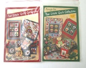 Lot of 2 Doll Quilt Patterns, The Little Quilt Collection, Angels, Sampler, Country, Hearts, Stars, Miniature Quilts 11 x 14 & 24 x 24 UNCUT