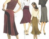 Womens A Line Skirt with Back Details OOP Butterick Sewing Pattern B4859 Size 14 16 18 20 Hip 38 40 42 44 UnCut Retro Lined Skirt