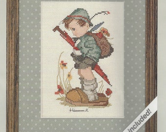 90s Weekenders Counted Cross Stitch Kit 02775 Looks Like Rain Hummel Little Boy NIP Kit Vintage Counted Cross Stitch Birthday Gift for Her