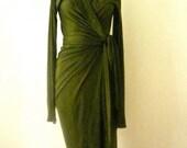 MARIA SEVERYNA Hunter Green Wrap dress