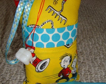 Tooth Fairy Pillow with tooth holder: Cat in the Hat