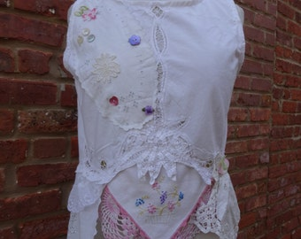 Boho Top,Gypsy Top,Shabby Chic Top,Women's Short Top,by Nine Muses Of Crete