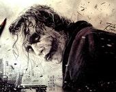 Joker - Original 4x6 or 8x10 Digital Print by Saib Irfan