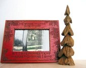 Pine Tree Wood Carving, Hand Carved Cottonwood Bark, Rustic Home, Cabin Decor, North Woods, Green Wooden Forest Accent For Sale, Art by Joan