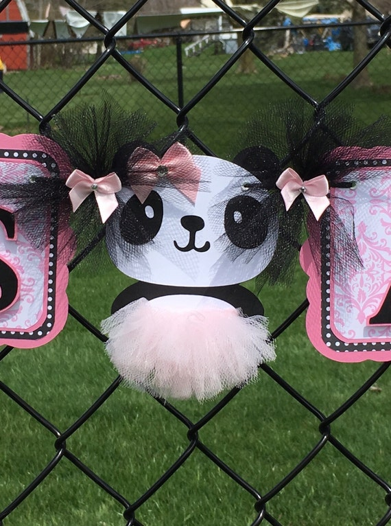 panda baby shower panda banner panda decorations it 39 s a girl banner