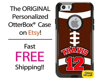 iPhone OtterBox Commuter Case for iPhone 7, 7 Plus, 6/6s, 6 Plus/6s Plus, 5/5s/SE, 5c Galaxy S7 S6 S5 Note 5 Custom Football Phone Case
