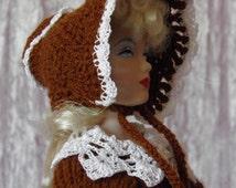 "for 16"" Ladies OOAK crochet DRESS ""Victorian Style"" - Tonner Ellowyne Gene Ficon Dolls - AllforDoll STYLE"