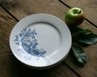 Swedish Rosemal Plates in Blue