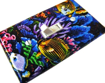 TROPICAL FISH Light Switch Cover Plate Switchplate Bathroom Decor