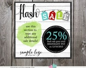 flash sale image - photoshop layered psd for instagram facebook post or avatar post - flash sale post image graphic - photoshop template psd