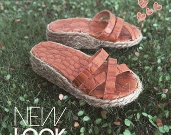 Wedge heel sandals with platform for Minifee, on box