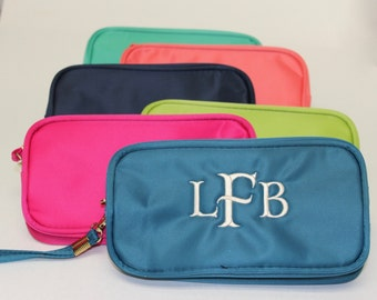 Monogram Makeup Bag - Cosmetic Bag - Toiletry Bag - Bridesmaid Gift - Travel Gift - Monogram Gift - Colorful Bag