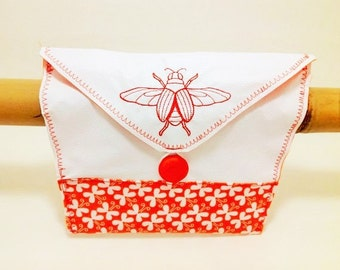 Bicycle Handlebar Bag with Moth and Butterfly
